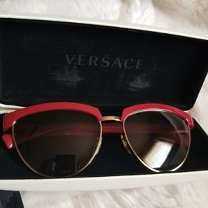 Authentic Versace Sunglasses RED NEW